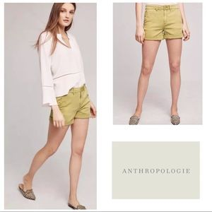 BUY1GET1FREE🎉Anthro Chino Relaxed Green Shorts